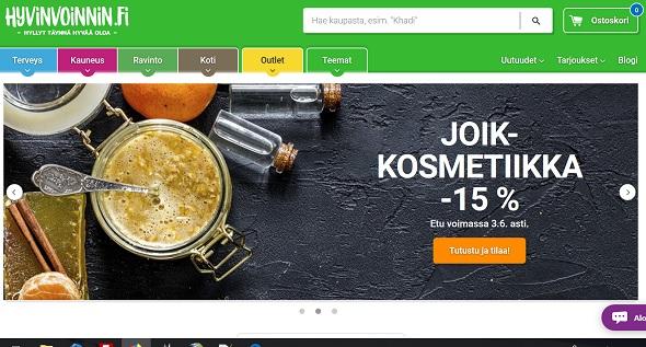 Hyvinvoinnin.fi kokemuksia verkkokaupasta
